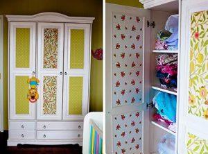 empapelar armario 300x222 Papel pintado para decorar un armario