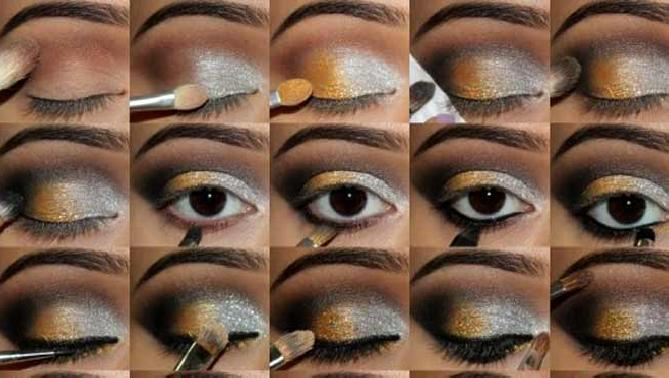Maquillaje noche Colores metalicos 1 Maquillaje de noche: Colores metálicos