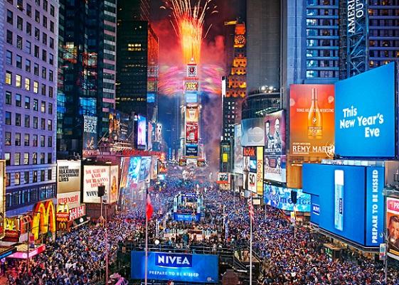 Times Square  Como celebrar el fin de año en Nueva York