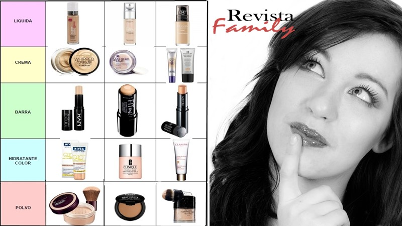 tipos de maquillaje base