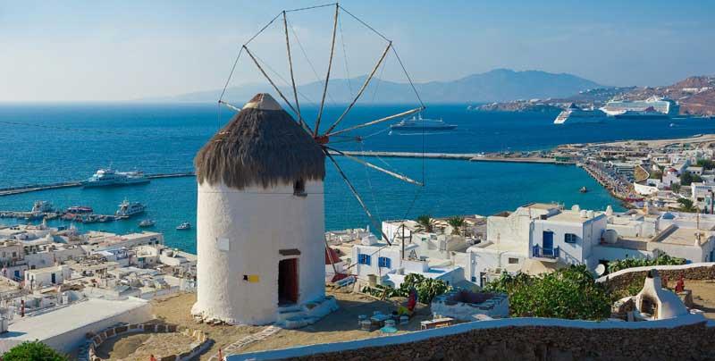 Mykonos isla Mykonos, la isla de la diversión en Grecia