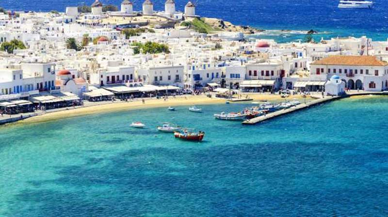 how to get to mykonos from ireland