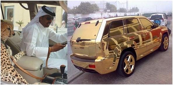 coches oro dubai Dubai el destino turístico más grandioso y excéntrico en la actualidad