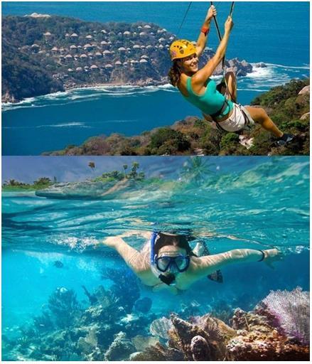 mexico aventura La Riviera Maya y Acapulco, el encanto de México