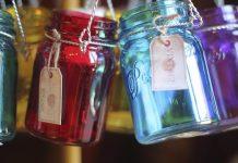 lamparas con jarras mason