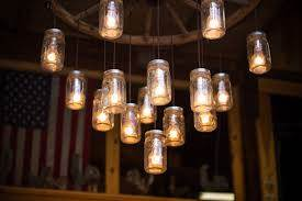 lamparas jarra mason Cómo hacer lámparas con jarras Mason