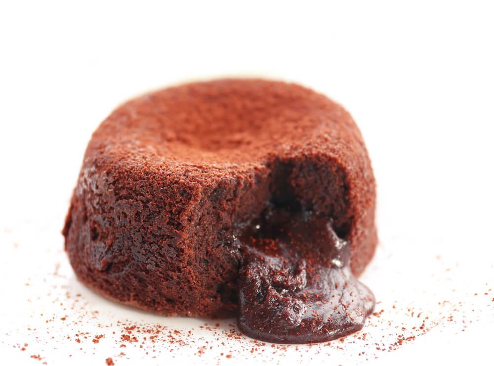 Pudin con crema de chocolate