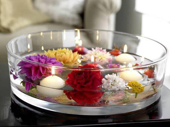 Centro de mesa con velas 10 ideas para decorar velas