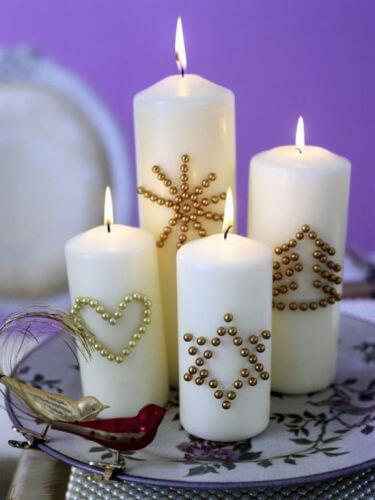 Velas con lentejuelas 10 ideas para decorar velas