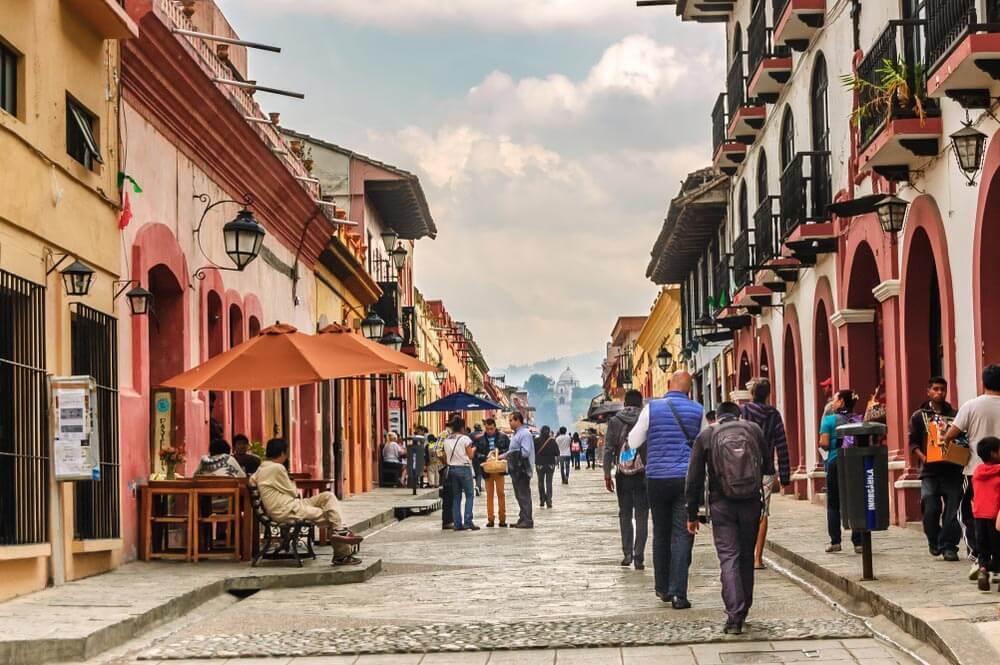 Calle peatonal Real de Guadalupe ¿Qué hacer en San Cristóbal de las Casas, México?